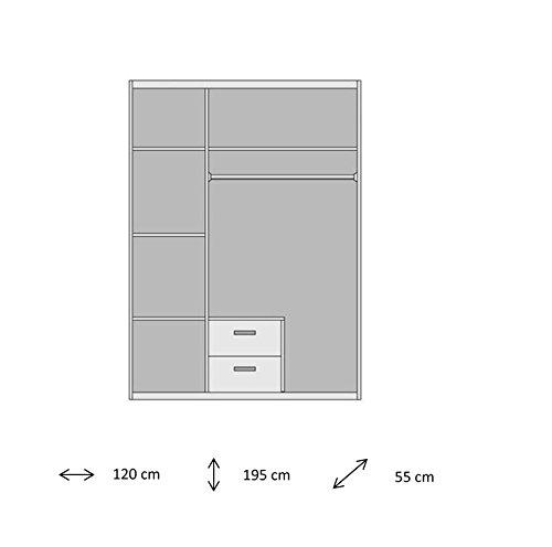 AVANTI TRENDSTORE - Drehtürenschrank weiß, ca. 120x195x55cm -