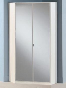 Eckkleiderschrank »BERLIN« in alpinweiß mit Spiegeltüren -