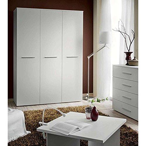 JUSThome BIG Drehtürenschrank Kleiderschrank Garderobenschrank (HxBxT): 190x135x55 cm Weiß Matt -