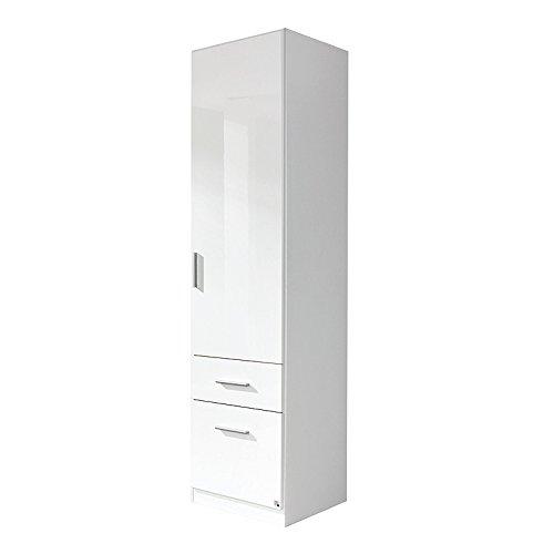 Kleiderschrank 1trg »CELLE« Hochglanz weiß rechts 197cm -
