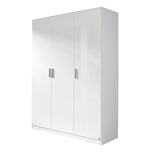 Kleiderschrank 3trg »CELLE« Hochglanz weiß 197cm -