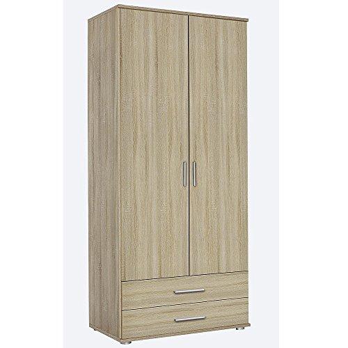 Kleiderschrank Rasant Eiche Sonoma, mit 2 Türen, 2 Schubladen 85x188 -