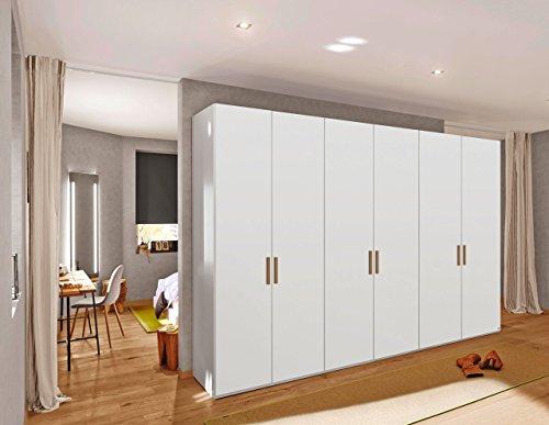 Kleiderschrank, Schlafzimmerschrank, Drehtürenschrank, Wäscheschrank, Schranksystem, alpinweiß, 6-türig -