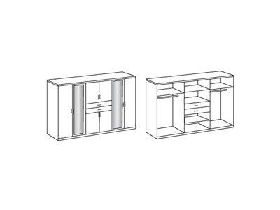 Kleiderschrank, Schlafzimmerschrank, Wäscheschrank, Drehtürenschrank, Schranksystem, Kleiderschranksystem, Schrank, Spiegeltürenschrank, Schrankkorpus -