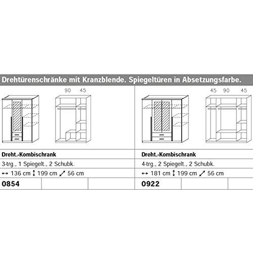 Kleiderschrank weiß / lila 3 Türen B 136 cm brombeer Schrank Drehtürenschrank Wäscheschrank Spiegelschrank Kinderzimmer Jugendzimmer -