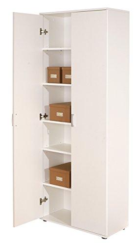 Links 13500100 Schrank Aktenschrank weiß Büroschrank Büro Mehrzweckschrank 2-türig 5 Böden NEU -