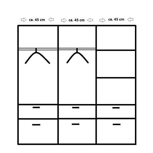 ROLLER Drehtürenschrank BREMEN Sonoma-Eiche - 136 cm breit -