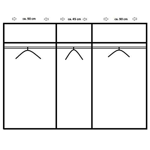 ROLLER Drehtürenschrank BUSCA - alpinweiß - Spiegel - 225 cm breit -