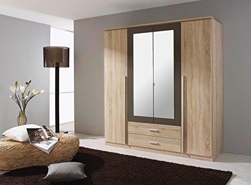 ROLLER Kleiderschrank KREFELD - Sonoma Eiche-grau - 181 cm -