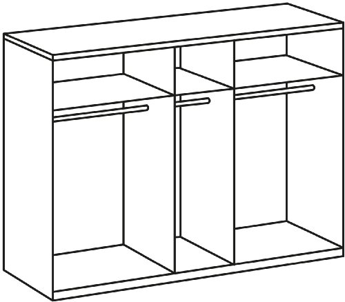 Wimex 985566 Drehtürenschrank 5-türig, 3 Spiegel, 225 x 210 x 58 cm, Landhausoptik, Front und Korpus alpinweiß -