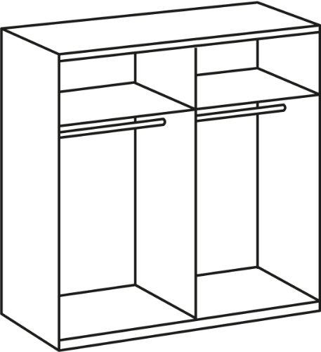 Wimex 985568 Drehtürenschrank 4-türig, 2 Spiegel, 180 x 210 x 58 cm, Landhausoptik, Front und Korpus alpinweiß -