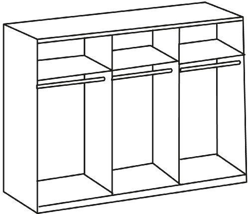 Wimex 985581 Drehtürenschrank 6-türig, 4 Spiegel, 270 x 210 x 58 cm, Landhausoptik, Front und Korpus alpinweiß -